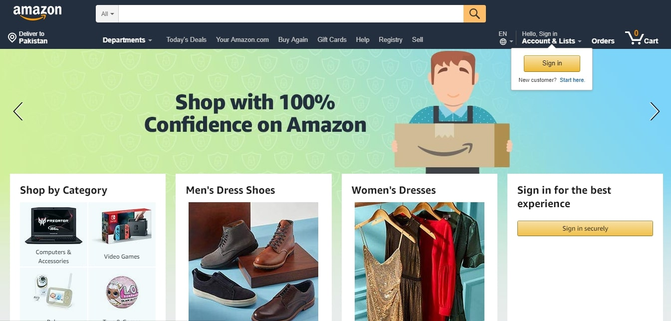 searching for trending products on amazon