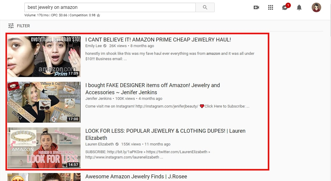 searching for product to sell on youtube