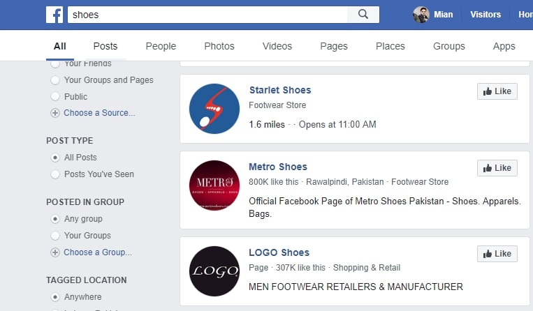using Facebook to find trending products