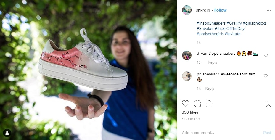 searching instagram posts for products to sell
