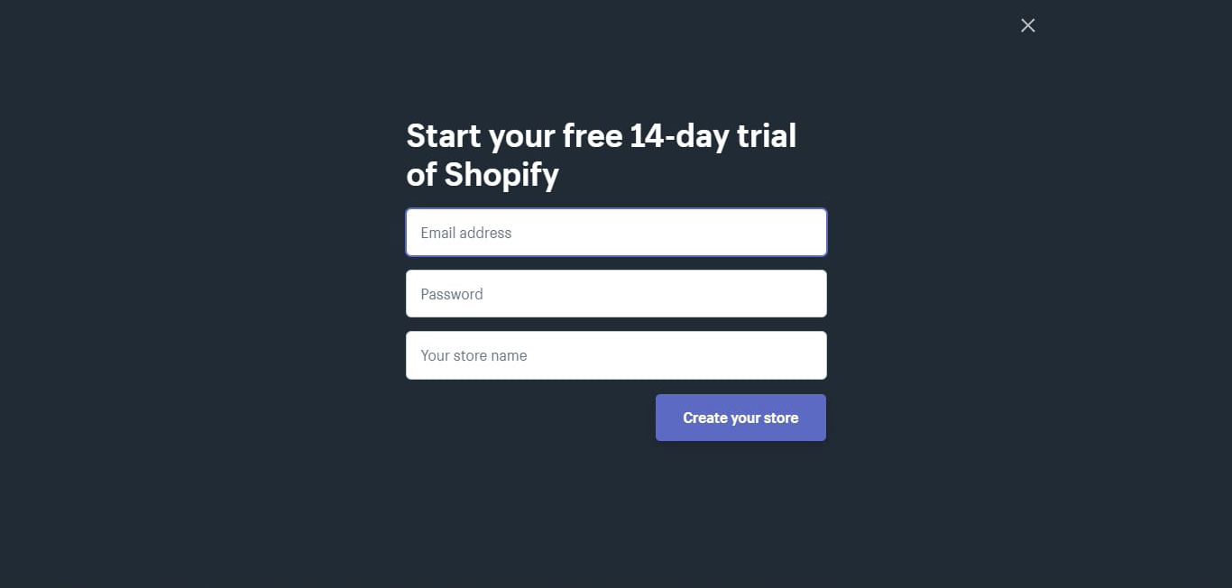 start your shopify dropshipping store