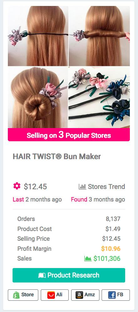 Women Flower Donut Bun Maker