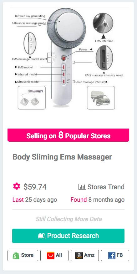 Ultrasound Cavitation EMS Body Slimming Massager