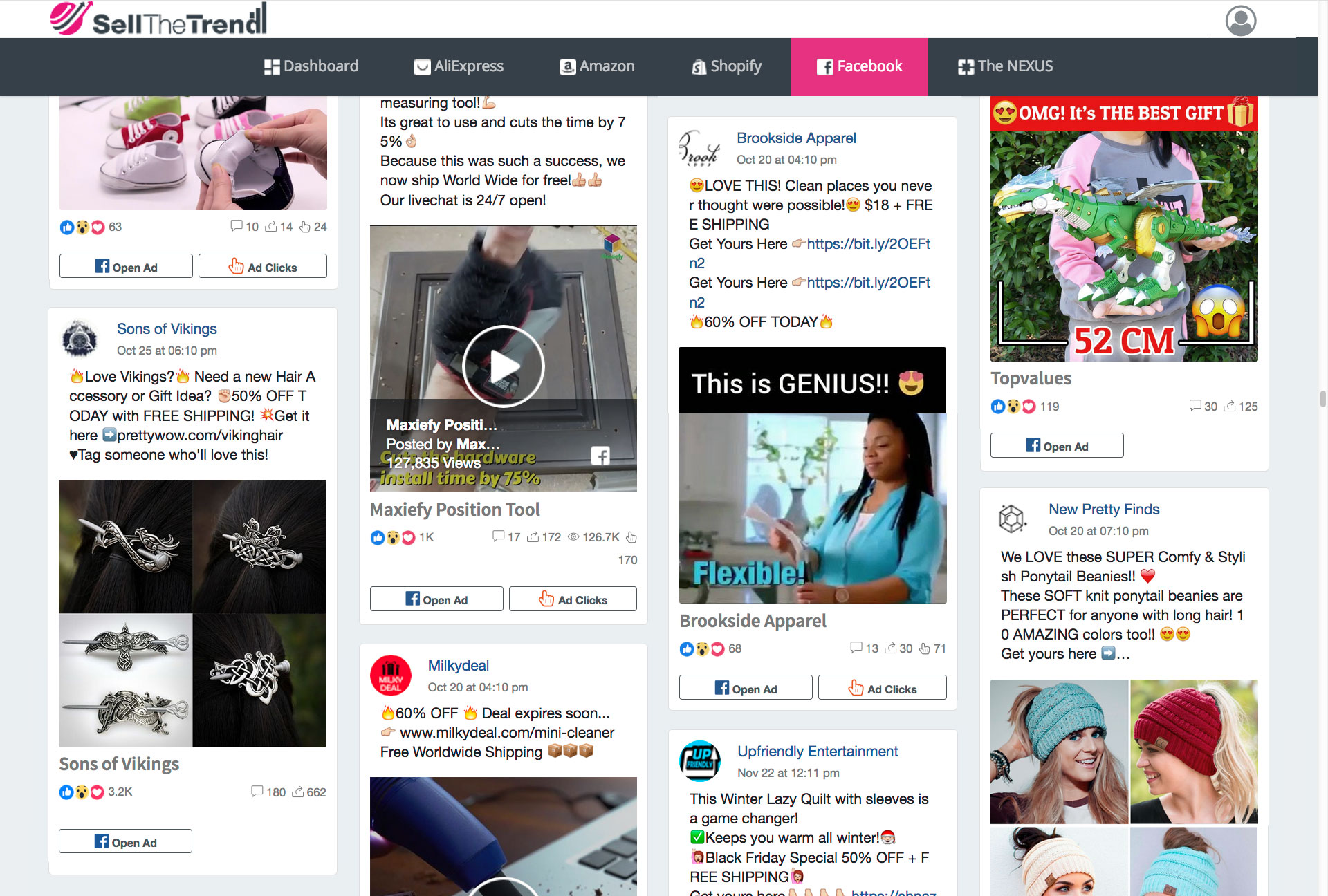 Sell The Trend Facebook Ads Explorer