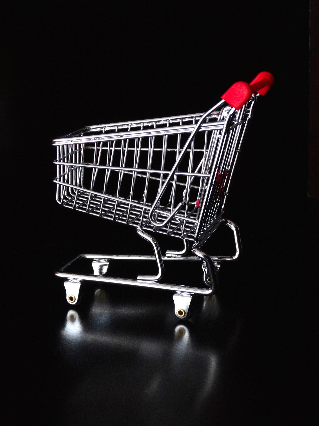 Blind dropship: Empty cart.