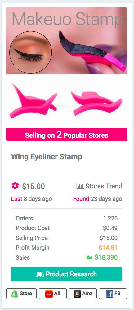 Eyeliner Stamp Template